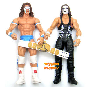 2x-WWF-WWE-Ultimate-Warrior-amp-Sting-Winged-Eagle-Wrestling-Action-Figure-Kid-Toy