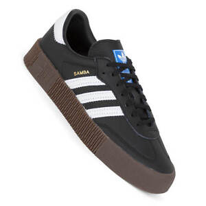 22ce4bd8bd63a7 Image is loading Adidas-Sambarose-Women-039-s-Sneakers-Black-Gum-