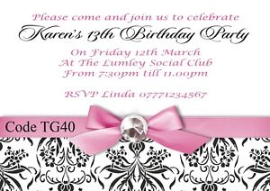 Details About Teenager Girls Birthday Party Invitations Cards With Free Envelopes