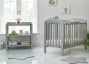 Obaby-LILY-2-PIECE-NURSERY-ROOM-SET-Cot-Bed-Changer-Warm-Grey-BN