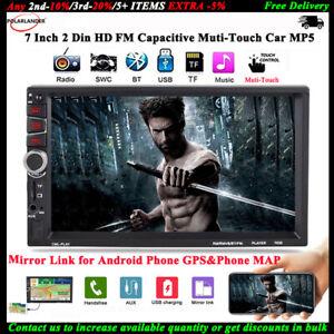 7-039-039-2-Din-Auto-Lettore-MP5-Radio-Bluetooth-FM-Stereo-Link-Mirror-per-Android-GPS