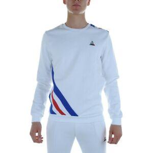 Le-Coq-Sportif-Tricolore-Felpa-Uomo-1911460-White
