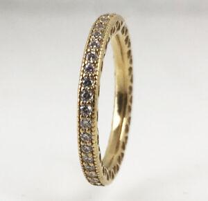 New-PANDORA-Hearts-of-Pandora-Stackable-Ring-14K-Gold-Vermeil-190963CZ
