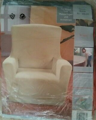 Mikrofaser Sessel - Spannbezug / Sessel 80 - 105 cm