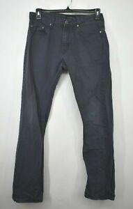 Banana Republic Men Black Straight Leg Slim Fit 5-Pocket Denim Jeans W32L34