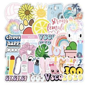 50pc VSCO Happy Vibe Teen Aesthetic Stickers Vinyl Decals ...