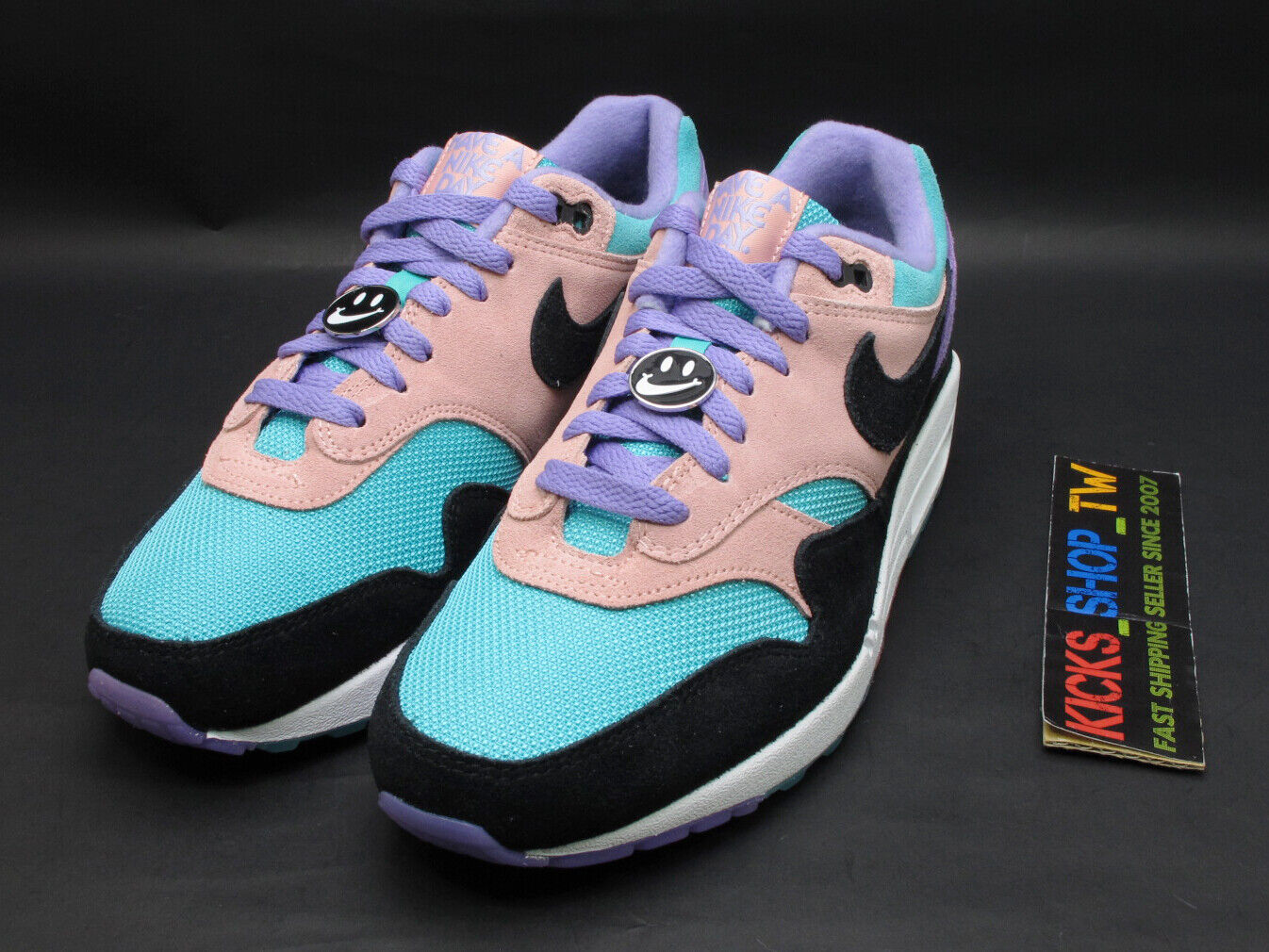 2019 NIKE AIR MAX 1 ND HAVE A NIKE DAY SMILE PURPLE BLACK RUNNING NSW BQ8929-500