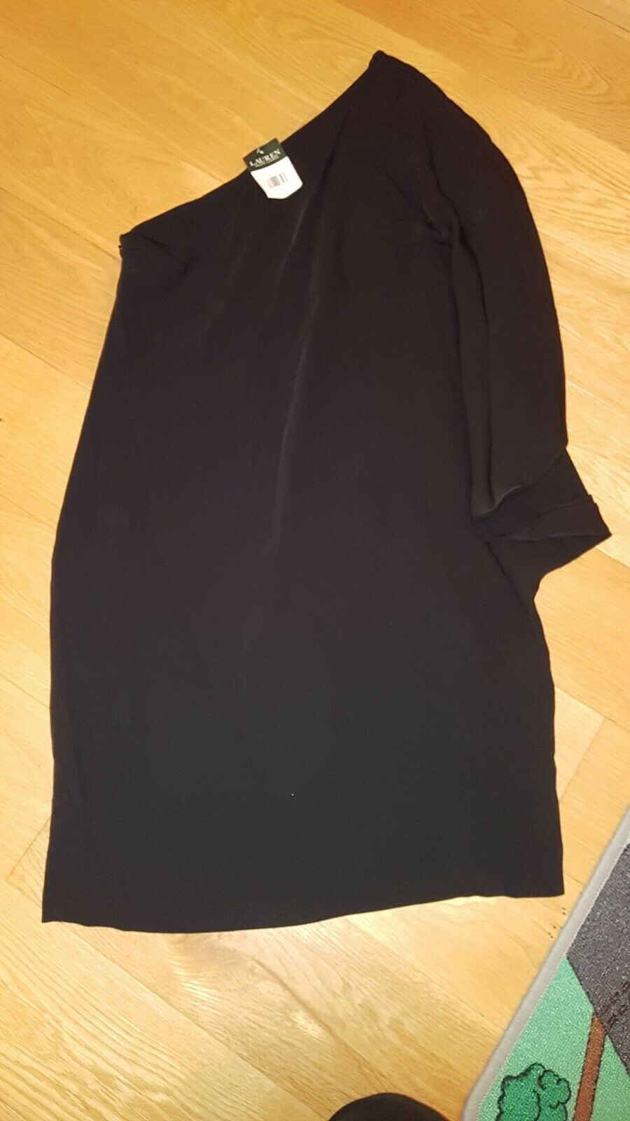 Lauren by Ralph Lauren kleid Schwarz party One-Shoulder neu Größe 34 36