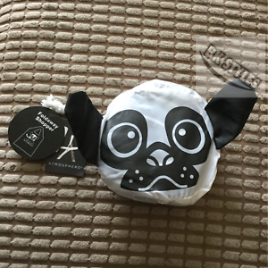 PRIMARK-PUG-FRENCH-BULLDOG-Black-amp-White-Foldaway-Tote-Shopper-Bag-Free-P-amp-P-BNWT