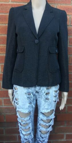 10 Jeans Moschino Sparkles Uk Jacket Black Ladies With aAqwwxFE