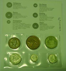 1958-Australian-Coin-Set-in-folder-nice-60th-birth-year-gift-Read-seller-notes