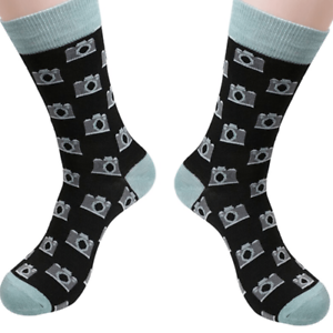 Men/'s Camera Themed Fashion Dress Socks Size 6-12 Great Gift for Photographers!