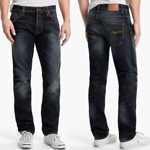 Nudie-Herren-Regular-Straight-Fit-Jeans-Hose-Hank-Rey-Indigo-Depth