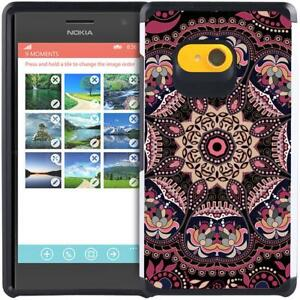the best attitude b4b86 4919c Details about For Nokia Lumia 730 735 Paisley Floral Design Case Hybrid  Armor Phone Cover