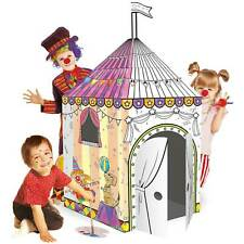 Malhaus Zirkus XXL 102x147cm u. Stifte Spielhaus Papphaus Kartonhaus Bastelhaus
