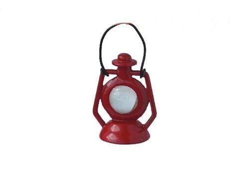 1:12 Windlampe Krippenlicht ROT 34mmH+Henkel FL0605 für die Puppenstube