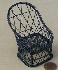 1:12 Scale Plastic Wrought Iron Black Fence Tumdee Dolls House Garden Railing