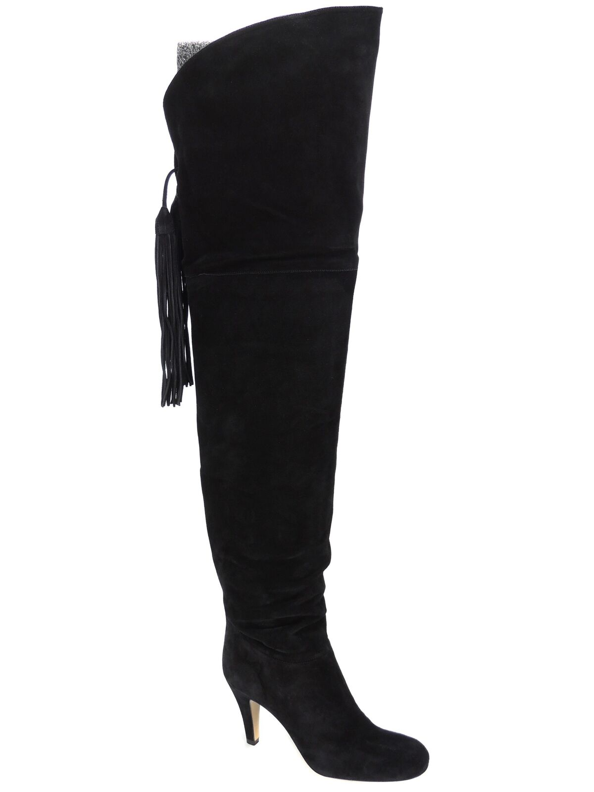 Chloé Women's Fringe Cuissar Tie Back Over the Knee Boots Black ; US 6M