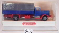 Wiking 1/87 Hanomag Pritsche/Plane LKW blau/grau OVP #805