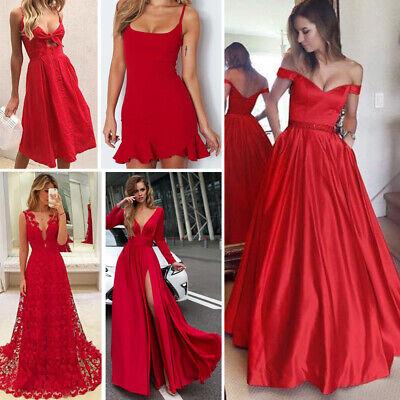 Damen Lang Maxikleid Floral Kleid Party Abend Cocktail Kleider 34 36 38 40 Paket