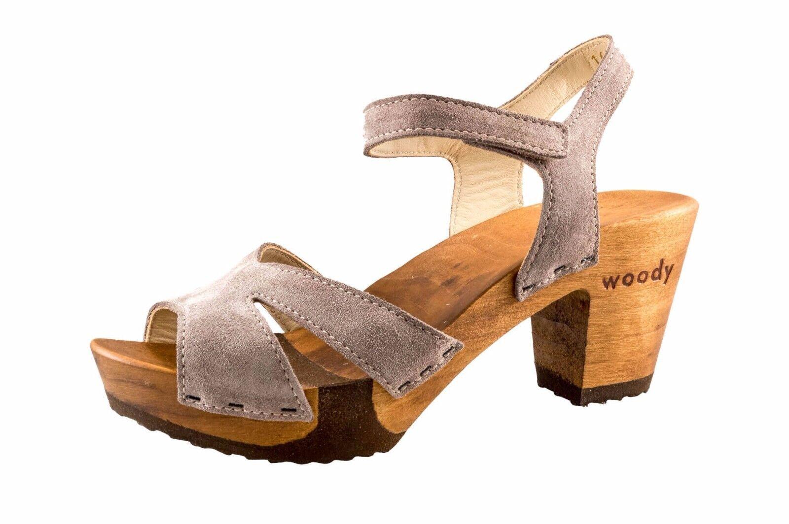 Woody Damen Sandalette wood-o-flex Carmen Taupe NEU Gr. 36 39