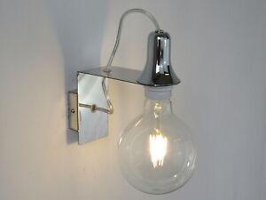 Applique Per Camera Da Letto.Lampada Da Parete Applique Cromo Design Moderno Per Cucina Camera