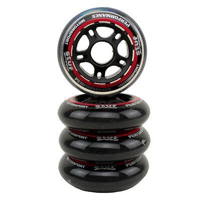 Stuf Inline Skate Wheels Rollen 4er Pack (transparent) AAS0021 versch. Größen