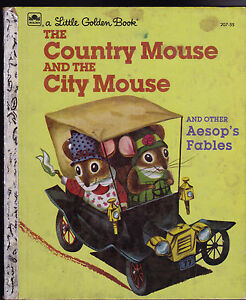 the country mouse the city mouse little golden book other aesop 39 s fables ebay. Black Bedroom Furniture Sets. Home Design Ideas