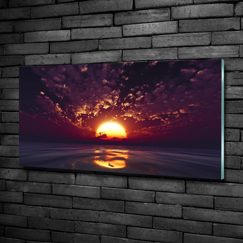 Vetro-Immagine Parete immagini Stampa su vetro 100x50 Decorazione PAESAGGI TRAMONTO