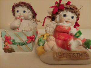 Vintage Angel Dreamsicles Baby's 1st Christmas  Lot of 2