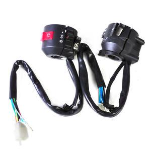 2X-Motorrad-7-8-034-22mm-Lenker-Armatur-Schalter-Lenkerschalter-fuer-Honda-Kawasaki