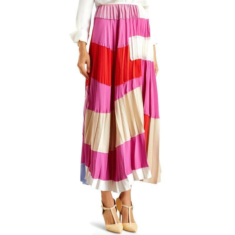 Marni Fuchsia Fluo Washed Crepe Skirt