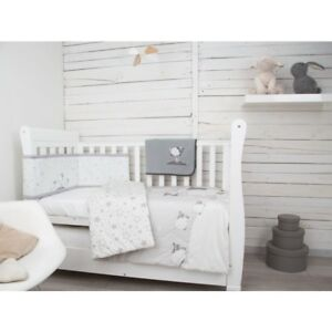 Image Is Loading Cuddleco 4 Piece Nursery Bedding Set Sleepy Sheep