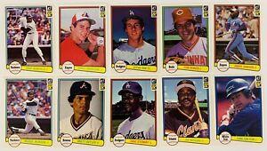 (10) 1982 Donruss Baseball Card Lot Terry Francona Steve Sax RCs Tom Seaver
