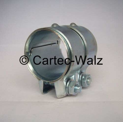 Exhaust Pipe Connector//Double Clamp 2 3//4x3 5//32in for BMW 5 Series 7er 96-16