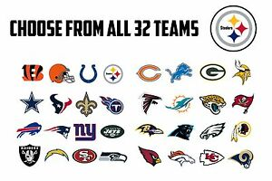f7552fe4 Details about 63 NFL Team Logo Envelope Seals / Labels / Stickers - 1