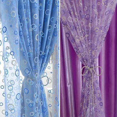 Fashion Voile Door Window Curtain Room Sheer Drape Panel Scarf Sheer Valance