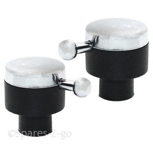 Rangemaster Véritable Plaque de cuisson Four bouton de Chromé Noir Cadran P051345 X 2 boutons