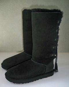 d6448491506 Details about Ugg Australia WOMEN'S Kristabelle Tall Lace Up Boots Black Sz  6 7 8 NIB Authenti