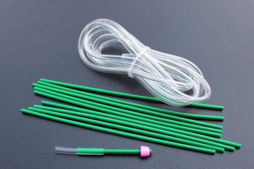 20 pcs Tubes set Brass Metal Plastic Tube Kit Tube Fly Tubing Fly Tying Material
