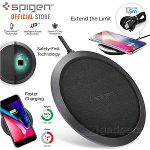 Fast-Qi-Wireless-Charger-Pad-Spigen-F308W-iPhone-11-Pro-XS-XR-Max-S10-S9-S8-Plus