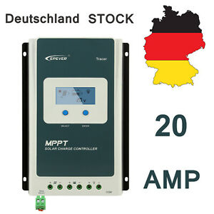 Epever 30A MPPT Solar Charge Controller 12V//24VDC Battery Regulator Max PV 100V