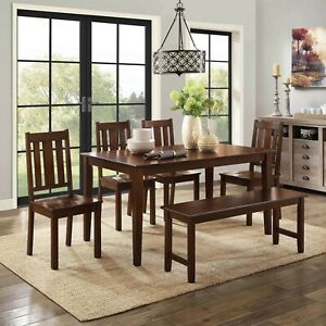 Details about Dining Room Furniture Set Kitchen Tables And Chairs  Contemporary Wood Table Sets