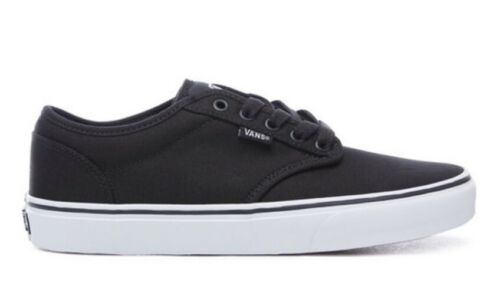 5 Hommes Toile Vans Winston Blanc Noir Uk Chaussures 8 84dand