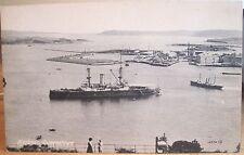 Irish Postcard QUEENSTOWN HARBOUR Haulbowline Cobh Cork Ireland Steamer