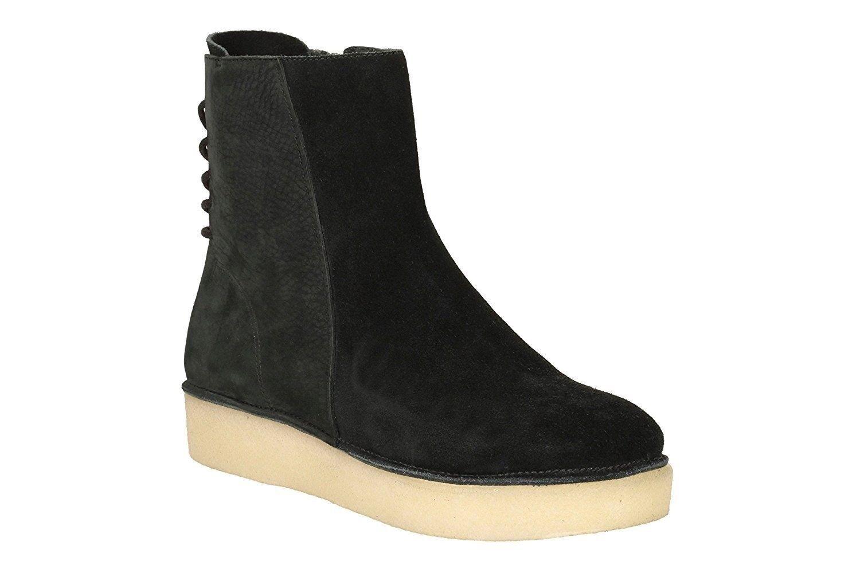Zapatos de Mujer Mujer Mujer Alto Top Clark timberly Gracia botas De Cuero De Gamuza Negro Talla 8US  bienvenido a orden