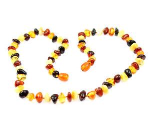100-Genuine-Baltic-Amber-Beads-Adult-Necklace-MIX-UK-distributor-NE0029A