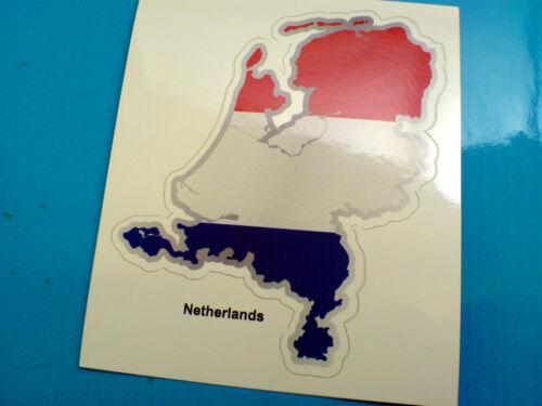 NETHERLANDS Flag /& Map Motorcycle Helmet Van Car Bumper Sticker Decal 1 off 80mm