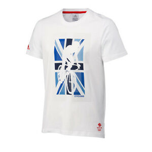 Adidas-Homme-Jeux-Olympiques-Londres-2012-Team-GB-emblematique-Cyclisme-T-shirt-Taille-XL-SY40