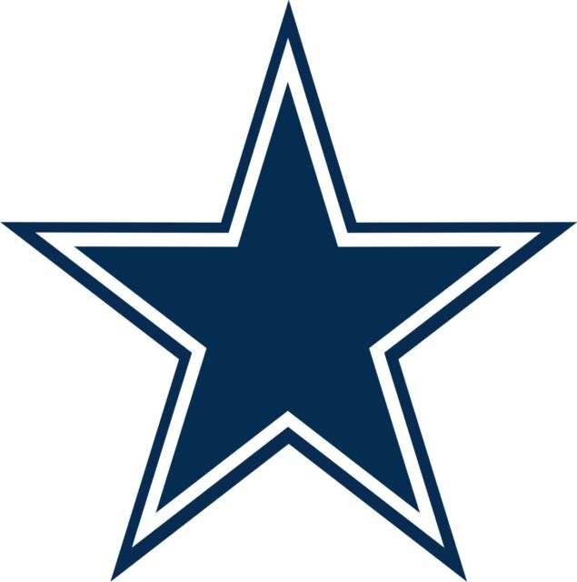 dallas cowboy star vinyl decal for cell phone or laptop set of 4